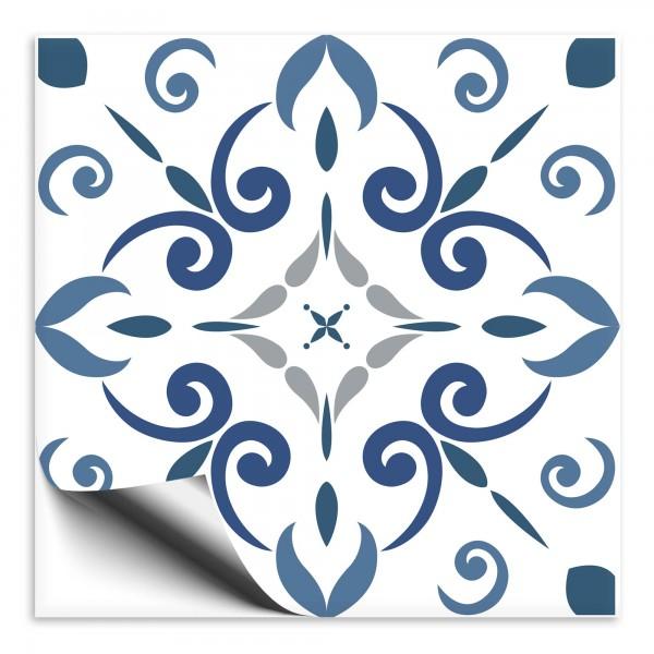 Fliesenaufkleber Marokko Ornament blau 10
