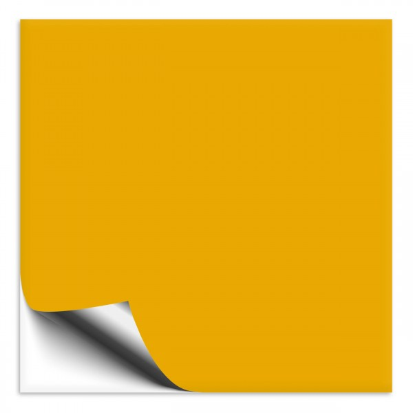 Fliesenaufkleber 15x15 cm signalgelb