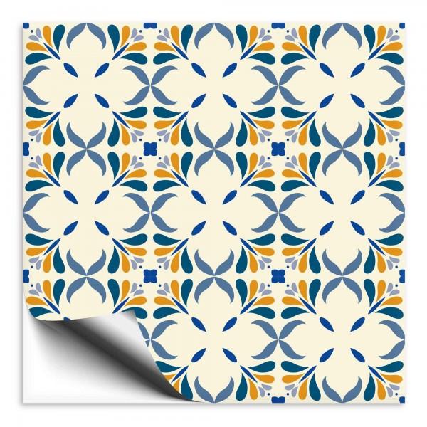 Fliesenaufkleber Marokko Ornament bunt 35