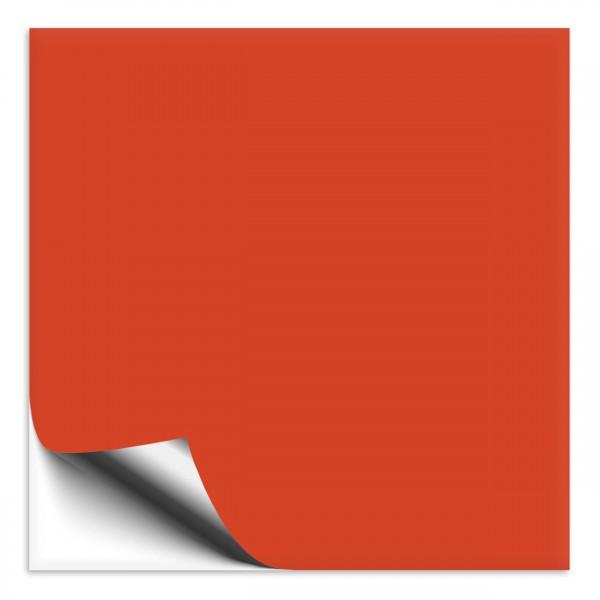 Fliesenaufkleber 25x25 cm orangerot