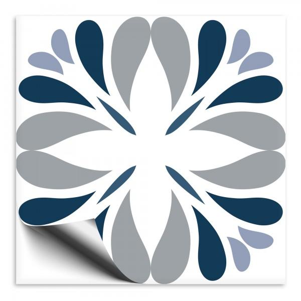 Fliesenaufkleber Marokko Ornament blau 40