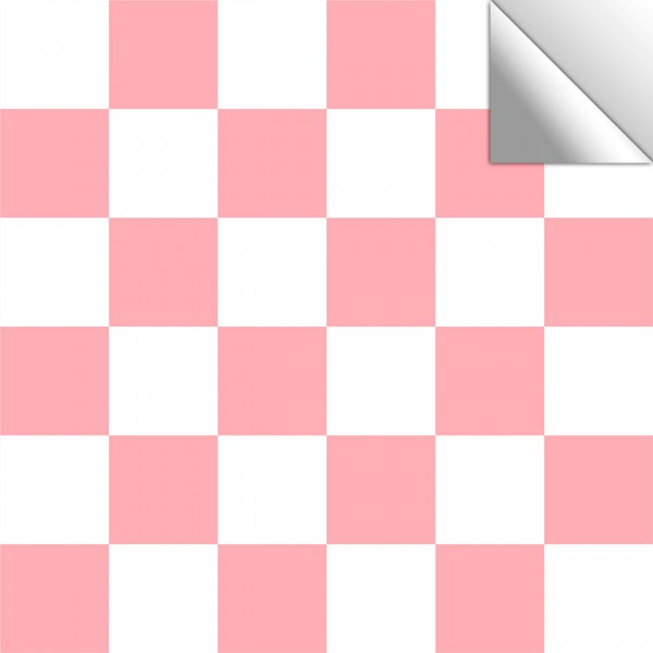 Fliesenaufkleber Mosaik rosa-weiß