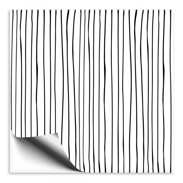 Fliesenaufkleber Streifen schwarz-weiss