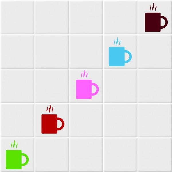 Fliesenaufkleber Kaffee