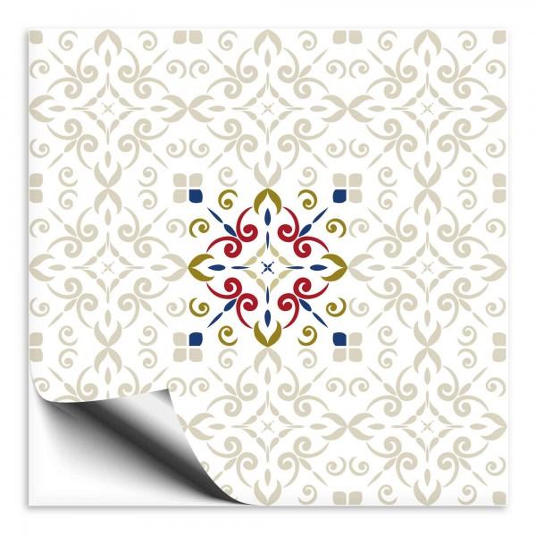 Fliesenaufkleber Marokko Ornament bunt 29