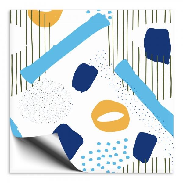 Fliesenaufkleber Abstrakt blau 1
