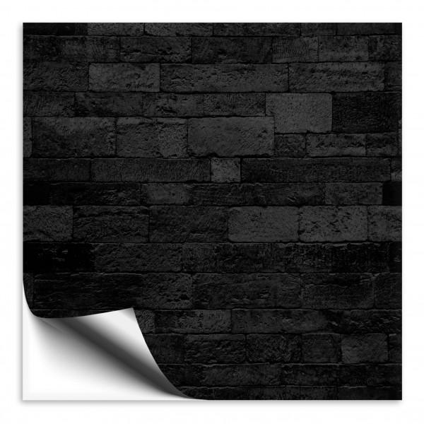 Fliesenaufkleber Steinmosaik schwarz