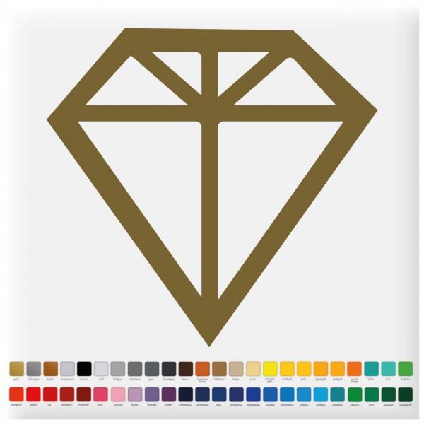 Fliesensticker Diamanten Motiv