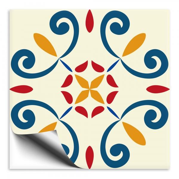 Fliesenaufkleber Marokko Ornament bunt 7