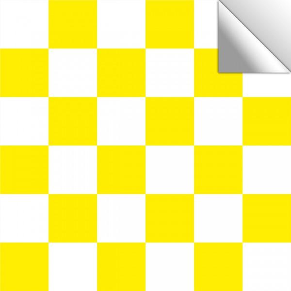 Fliesenaufkleber Mosaik weiß/gelb