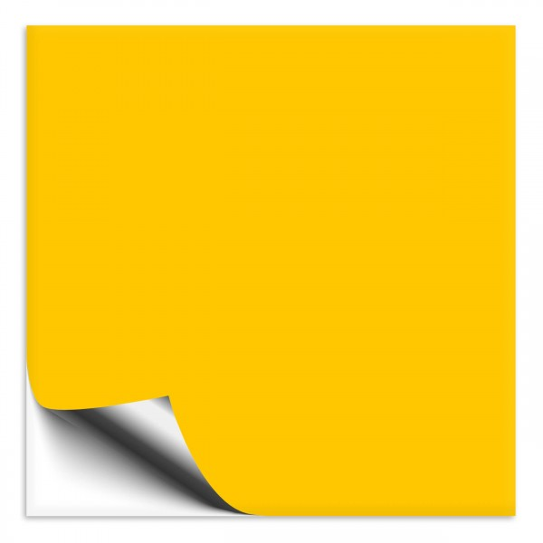Fliesenaufkleber 25x25 cm gelb
