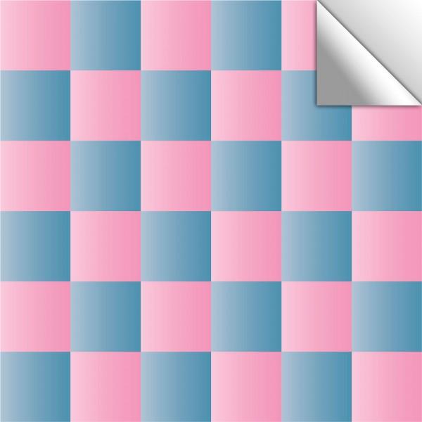 Fliesenaufkleber Mosaik rosa/blau schimmernd