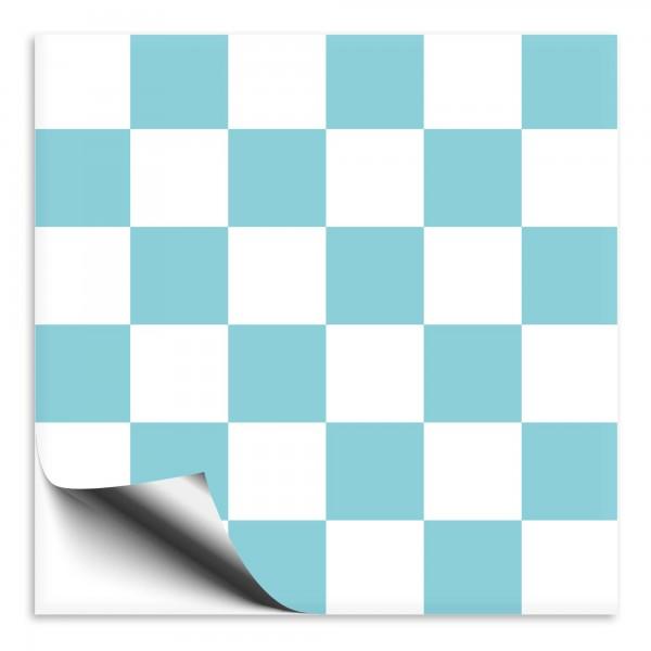 Fliesenaufkleber Mosaike weiß/türkis