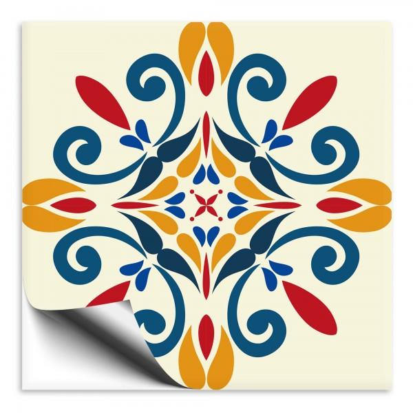 Fliesenaufkleber Marokko Ornament bunt 33