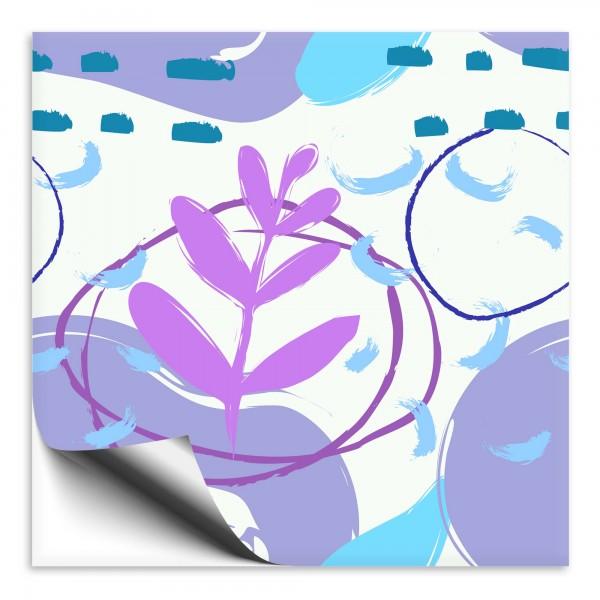 Fliesenaufkleber Kunst violett