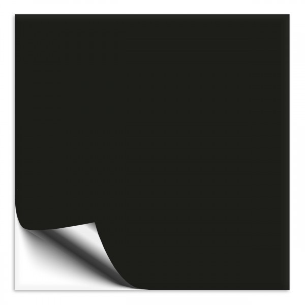 Fliesenaufkleber 25x25 cm schwarz