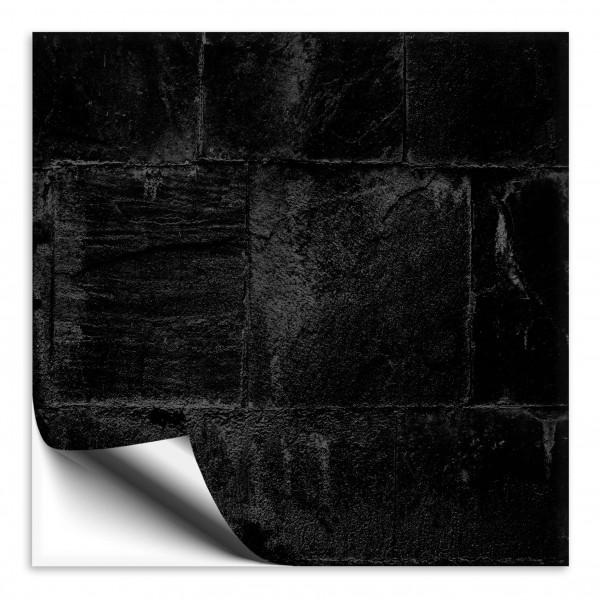 Fliesenaufkleber Steinoptik schwarz