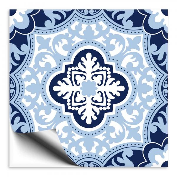 Fliesenaufkleber orientalisch blau weiss 2