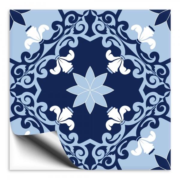 Fliesenaufkleber orientalisch blau weiss 1