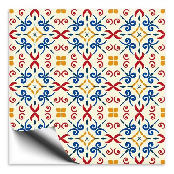 Fliesenaufkleber Marokko Ornament bunt 6