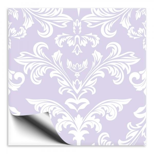 Fliesenaufkleber Ornamente lila
