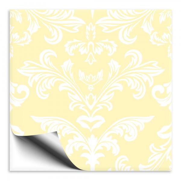 Fliesenaufkleber Ornament gelb