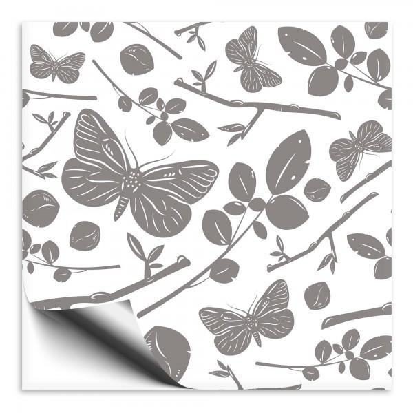 Fliesenaufkleber Schmetterling grau