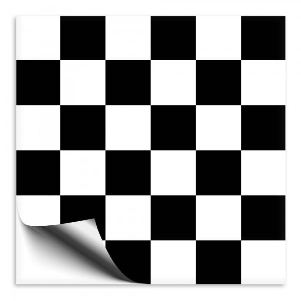 Mosaik Fliesenaufkleber schwarz/weiss
