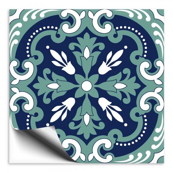 Fliesenaufkleber orientalisch blau grün 1