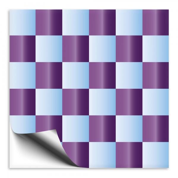 Fliesenaufkleber Mosaik blau/lila