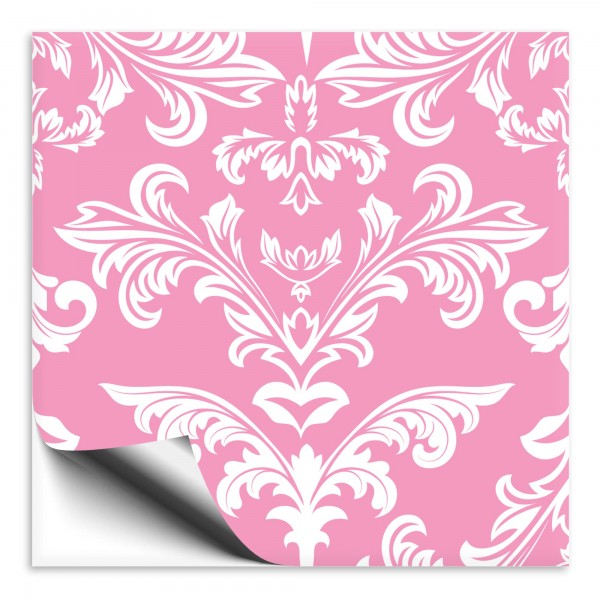 Fliesenaufkleber Ornament pink