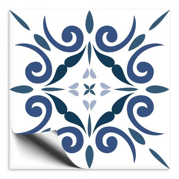 Fliesenaufkleber Marokko Ornament blau 11