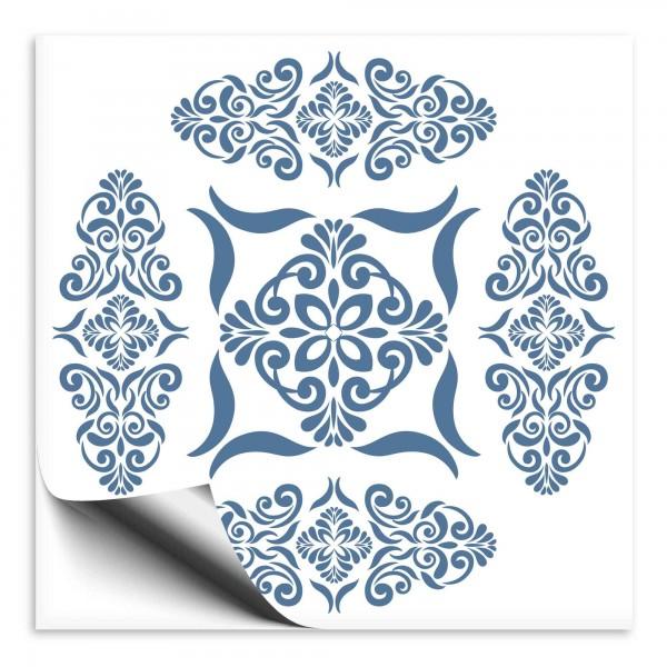 Fliesenaufkleber Marokko Ornament blau 38