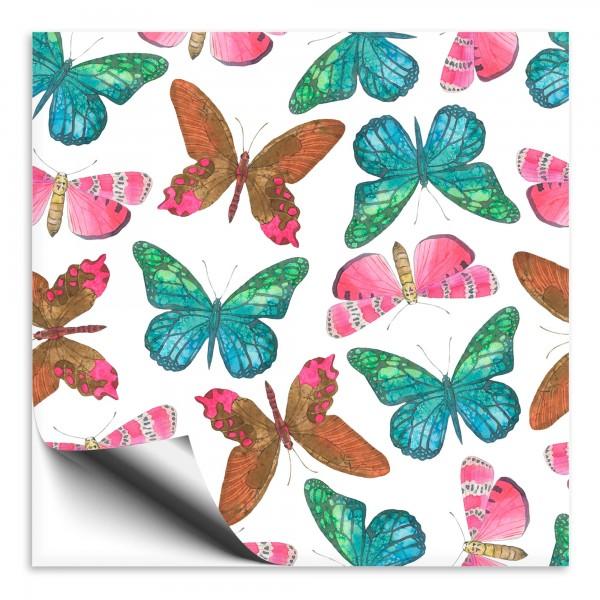 Fliesenaufkleber mit Schmetterlingen