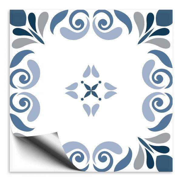 Fliesenaufkleber Marokko Ornament blau 24
