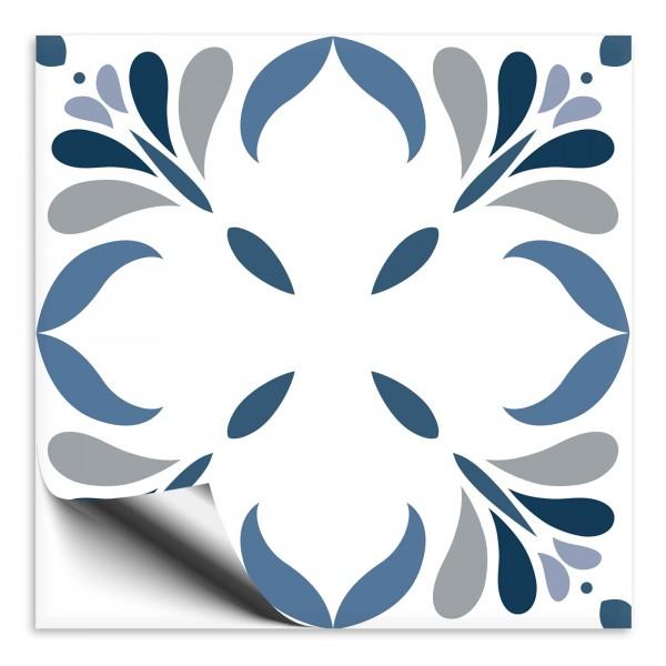 Fliesenaufkleber Marokko Ornament blau 31