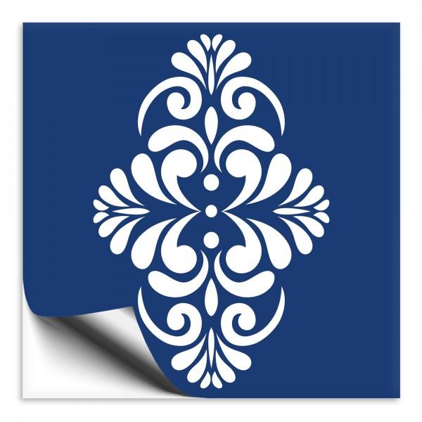 Fliesenaufkleber Marokko Ornament blau 2