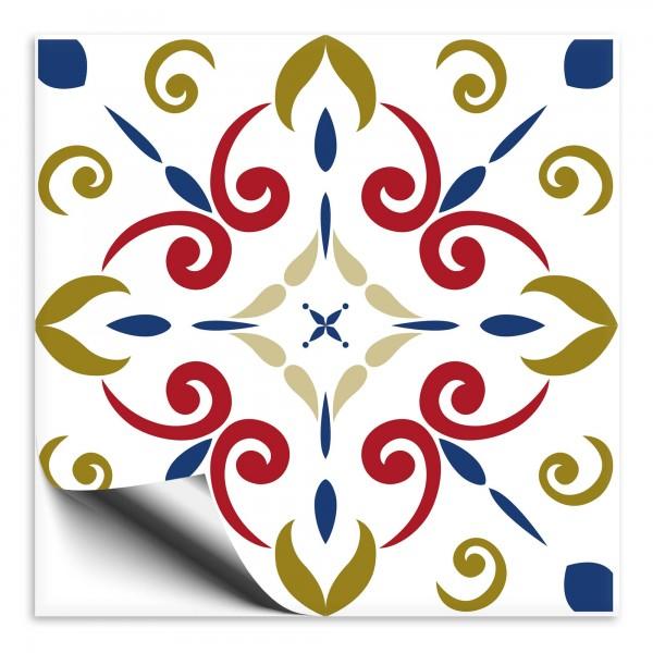 Fliesenaufkleber Marokko Ornament bunt 15