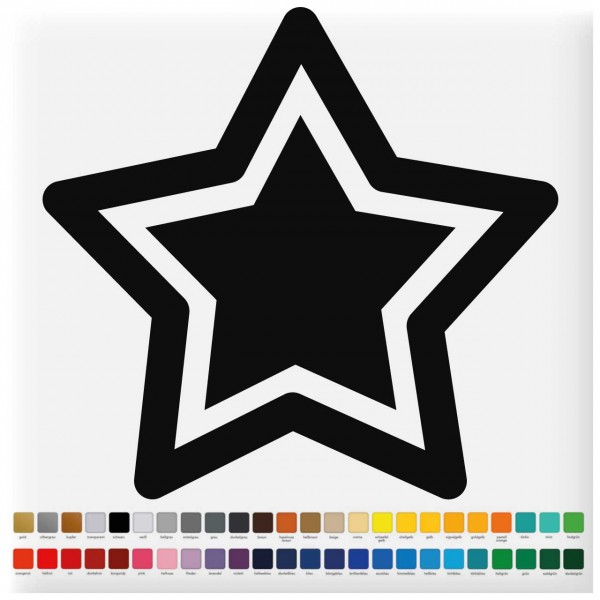 Fliesenaufkleber Stern, konturgeschnitten