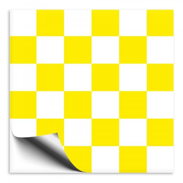 Fliesenaufkleber weiß/gelb Mosaik