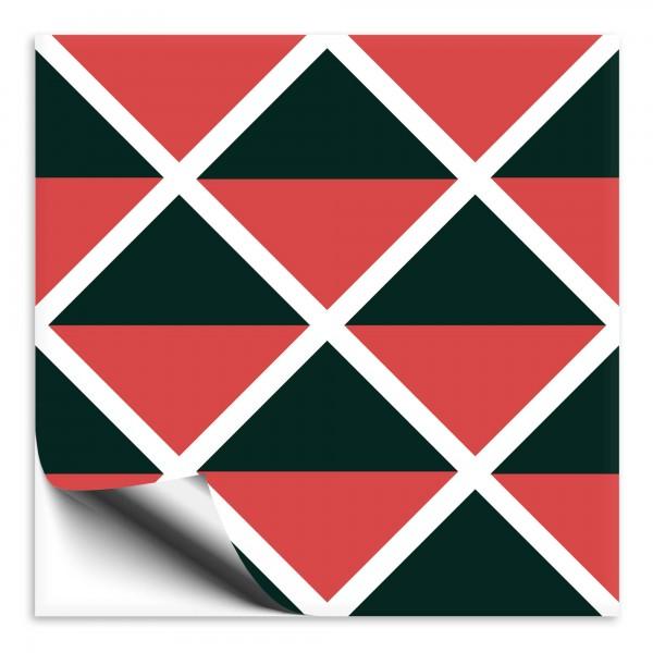 "Fliesenaufkleber Ornamente ""Portugal"" rot-dunkelgrün 9"