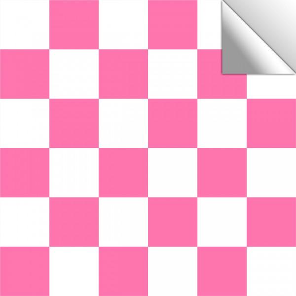 Fliesenaufkleber Mosaik weiß/pink