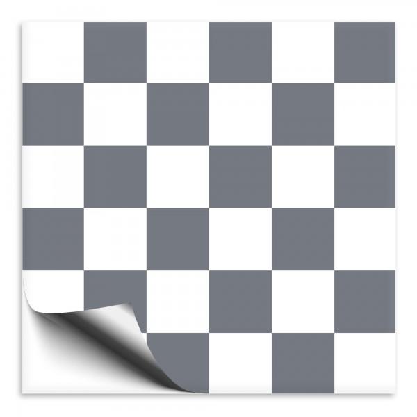 Fliesenaufkleber dunkelgrau/weiß Mosaik