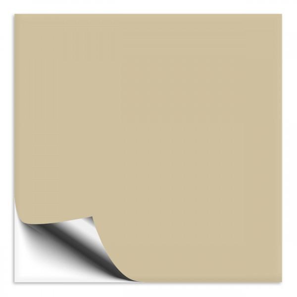 Fliesenaufkleber 10x10 cm beige