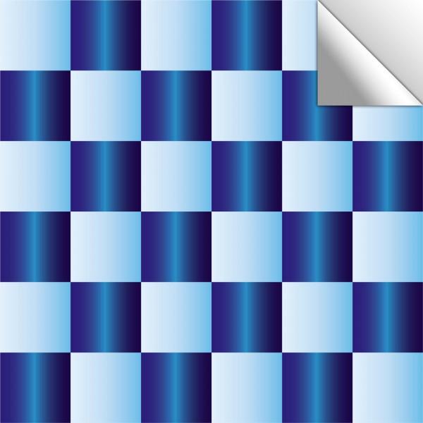 Fliesenaufkleber hellblau/dunkelblau schimmernd