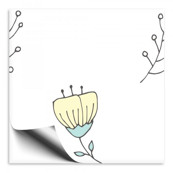 Fliesenaufkleber Blume weiß