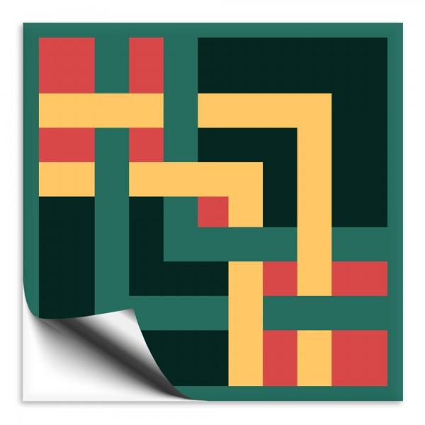 "Fliesenaufkleber Ornamente ""Portugal"" grün-gelb 3"