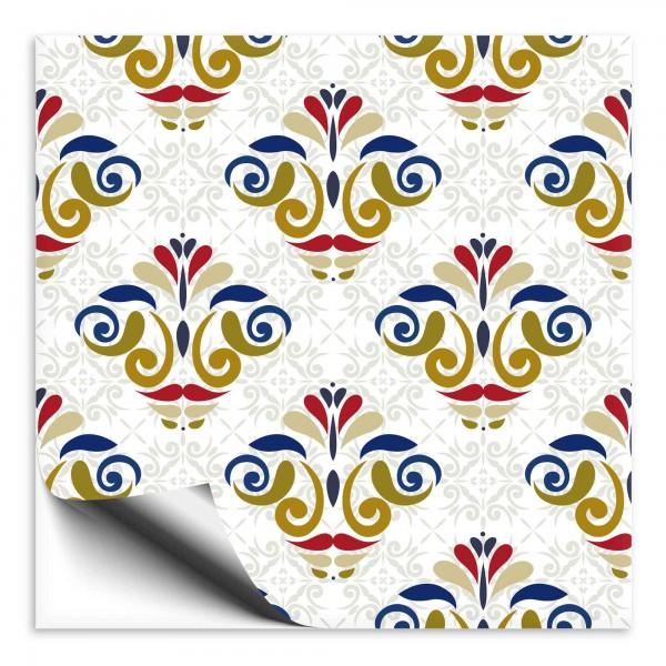 Fliesenaufkleber Marokko Ornament bunt 16