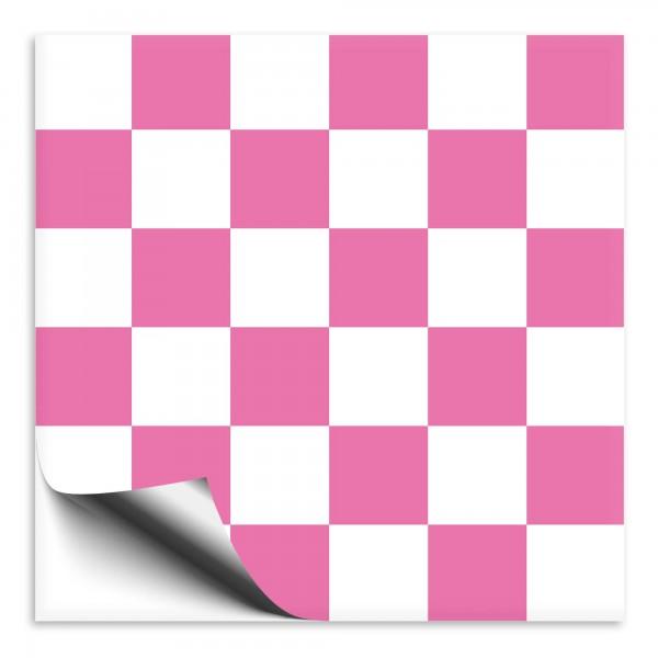 Mosaik Fliesenaufkleber weiß/pink