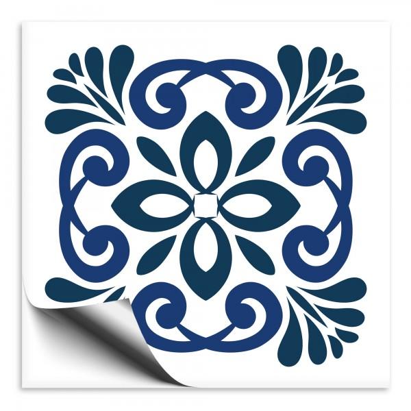 Fliesenaufkleber Marokko Ornament blau 1